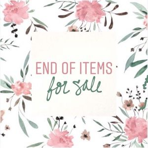 Accessories - end of items for sale x
